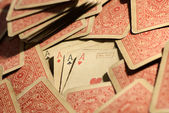Vintage deck of poker playing cards — Stock Photo