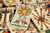 Set of tarot cards — Stock Photo