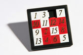 Set of removable numbers in a black frame — Stock Photo