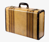 Old vintage rigid frame suitcase — Stock Photo