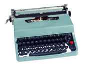 Old retro manual office typewriter — Stock Photo