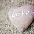 Stone heart with the word - Love - on it — Stock Photo #47240245