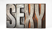 Sorts or printers blocks with the word - Sexy — Stock Photo