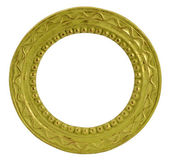 Round gold vintage frame — Stock Photo
