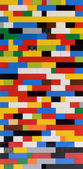 Background pattern of colorful Lego bricks — Stock Photo