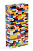Tower constructed of colorful Lego bricks — Stock Photo