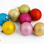 Colored Christmas balls — Stock Photo