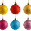 Colored Christmas balls - Stock Photo