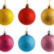 Stock Photo: Colored Christmas balls