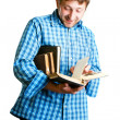 Man reads a book — Stock Photo