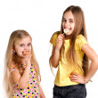 Girls eat candies — Stock Photo #13267444