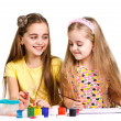 Two girls painted — Stock Photo #13267551