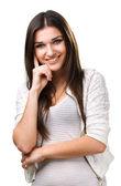 Beautiful brunette who smiles — Stock Photo