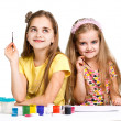Two girls painted — Stock Photo #21239005