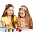 Two girls painted — Stock Photo #21239025