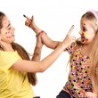 Stock Photo: Two girls painted