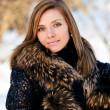 Woman portrait in winter clothes — Stock Photo