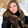 Stock Photo: Woman portrait in winter clothes