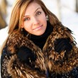Woman portrait in winter clothes — Stock Photo #21239225