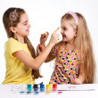 Two girls painted — Stock Photo #21239313