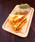 Toasts with pate — Stock Photo