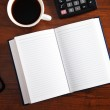 Notepad with pen — Stock Photo #24518903