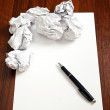 Blank paper with pen — Stock Photo #24519475