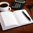 Notepad with pen — Stock Photo #24519581