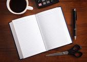 用钢笔记事本 — 图库照片