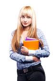 Miloučká studentka — Stock fotografie