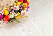 Artifical flowers — Stock Photo