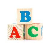 Abc のブロックを再生します。 — ストック写真