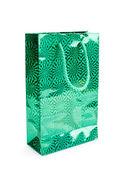 зеленый подарок пакеты — Стоковое фото