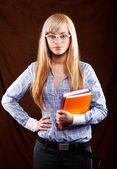 Preciosa estudiante — Foto de Stock