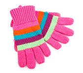 Gestreepte handschoenen — Stockfoto