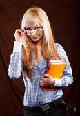 Sevimli öğrenci — Stok fotoğraf