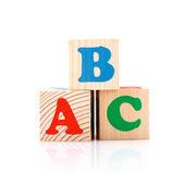 Abc jugar blocks — Foto de Stock
