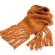 Knitted winter scarf — Stockfoto