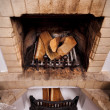 Vintage antique fireplace — Stock Photo
