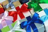 Färgglada presentförpackning — Stockfoto