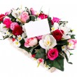 Decorated flowers basket — Stock Photo