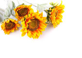 Artificial sunflowers — Foto Stock