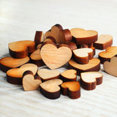 Wooden Hearts  — Stockfoto