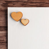 Blank greetings card for St. valentine — Stock Photo