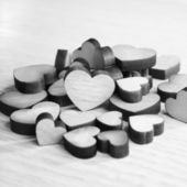 Holz-herzen — Stockfoto
