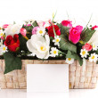Decorated flowers basket — Stock Photo #50947567