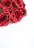 Red roses for greetings — Stok fotoğraf