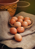 Easter eggs in home — 图库照片