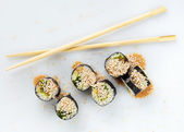 Sushi sprinkled with sesame seeds — Stock Photo