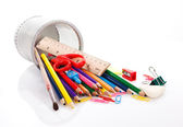School stationery supplies — Stock Photo